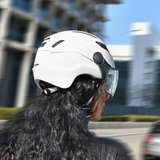 CP Chimayo+ wit e-bike pedelec helm in actie achter