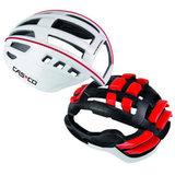 Casco helm Speedairo wit rood constructie - beste fietshelm met vizier kopen fiets helm racefiets 1554