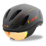 Giro Fietshelm Vanquish Mips grijs - Matte Grey Firechrome - Met Giro Vizier 2