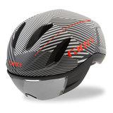 Giro Fietshelm Vanquish Mips wit zwart print gestreept kopen online met giro vizier 2