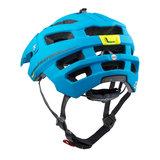 mtb helm Cratoni alltrack blauw groen - beste fietshelm in mtb helm test achter