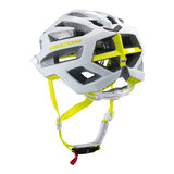 mtb helm dames Cratoni flash wit-groen - prima mountainbike helm in mtb test achter