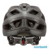 slokker penegal zwart carbon kopen - fietshelm - mtb helm - racefiets helm - fietshelm met vizier - e bike helm achter