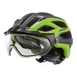 slokker penegal groen carbon kopen - fietshelm - mtb helm - racefiets helm - fietshelm met vizier - e bike helm