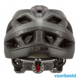 slokker penegal wit carbon kopen - fietshelm - mtb helm - racefiets helm - fietshelm met vizier - e bike helm achter