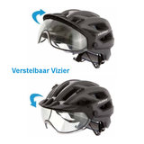 slokker penegal met eenvoudig verstelbaar vizier - fietshelm - mtb helm - racefiets helm - fietshelm met vizier - e bike helm 5