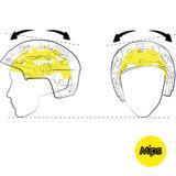 Fietshelm Giro Foray MIPS - Racefiets helm - geel kopen online Mips systeem