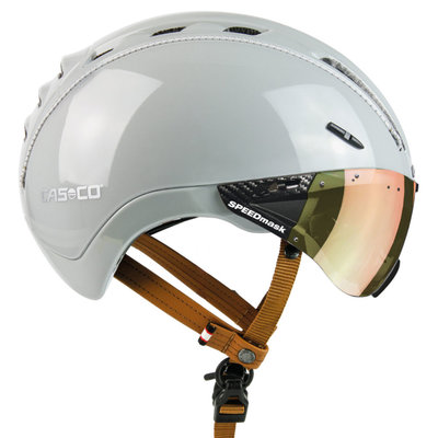 Casco Roadster Plus Sand e bike helm - Met Casco Speedmask Sunset Vizier (☁/☀)