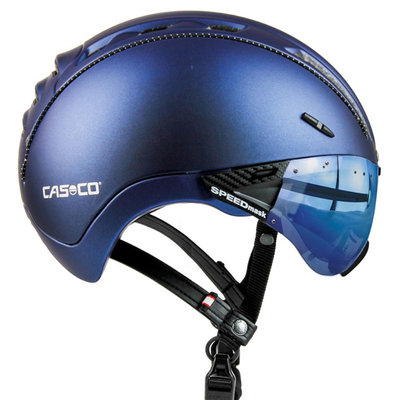 Casco Roadster Plus Navy Metallic e bike helm - Met Casco Speedmask Ocean Vizier