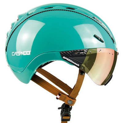 Casco Roadster Plus Jade Glanz e bike helm - Met Casco Speedmask Sunset Vizier
