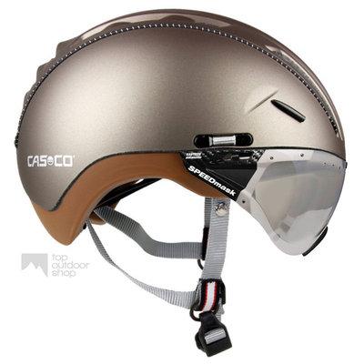 Casco Roadster Olive e bike helm + vautron vizier (meekleurend) - Gratis montage!