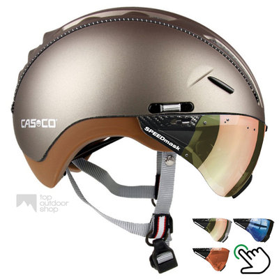 Casco Roadster Olive e bike helm + carbonic multilayer vizier (keus uit 3) - Gratis montage!