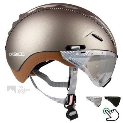 Casco Roadster Olive e bike helm + carbonic vizier (keus uit 2) - Gratis montage!