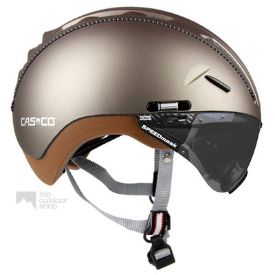 Casco Roadster Olive e bike helm + anti scratch vizier - Gratis montage!
