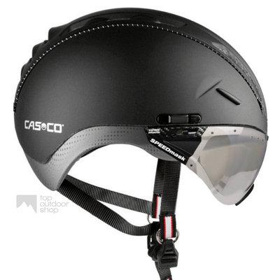 Casco Roadster zwart e bike helm + vautron vizier (meekleurend) - Gratis montage!