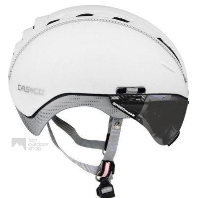 Casco Roadster wit e bike helm + anti scratch vizier - Gratis montage!