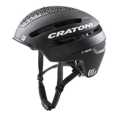Cratoni C-Mute Zwart - Speed Pedelec Helm met Verlichting & Reflectors