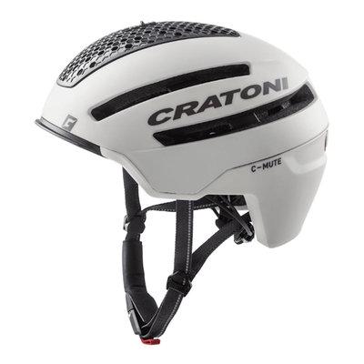 Cratoni C-Mute Wit - Speed Pedelec Helm met Verlichting & Reflectors