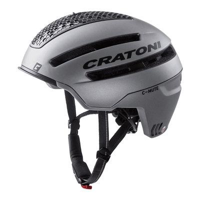 Cratoni C-Mute Antraciet - Speed Pedelec Helm met Verlichting & Reflectors