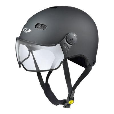 CP Carachillo E-bike helm zwart - trendy fietshelm met vizier voor brildragers