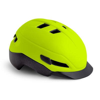 MET Grancorso Fluor geel - Speed Pedelec helm - Kan met vizier en verlichting!