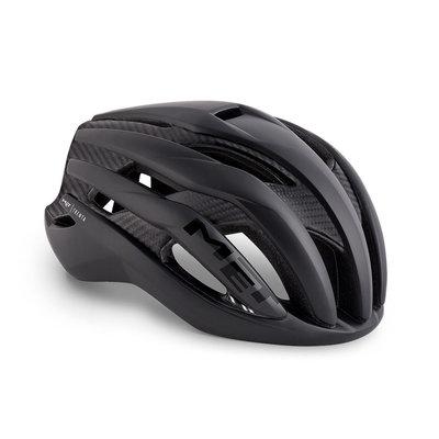 MET Trenta 3K carbon zwart racefiets helm - slechts 215 gram! - kan ook met verlichting