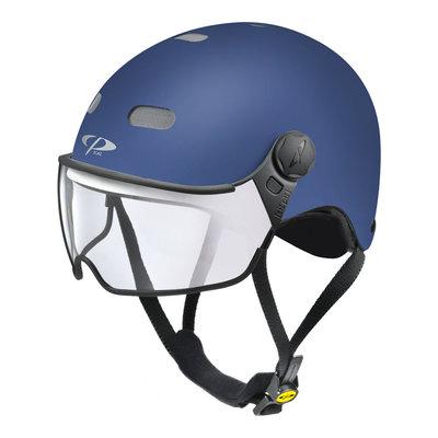 CP Carachillo E-bike helm blauw - trendy fietshelm met vizier voor brildragers ideaal