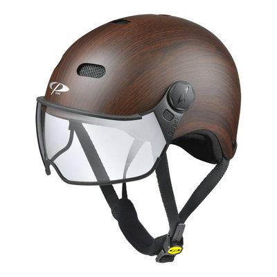 CP Carachillo E-bike helm Wood -  trendy fietshelm met vizier voor brildragers ideaal