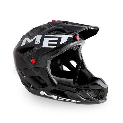 MET Parachute full face helm mtb zwart - Lichtste mtb helm full face ter wereld !