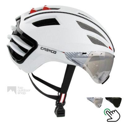 Casco Speedairo 2 wit + carbonic vizier (keuze uit 2)- met GRATIS montage!