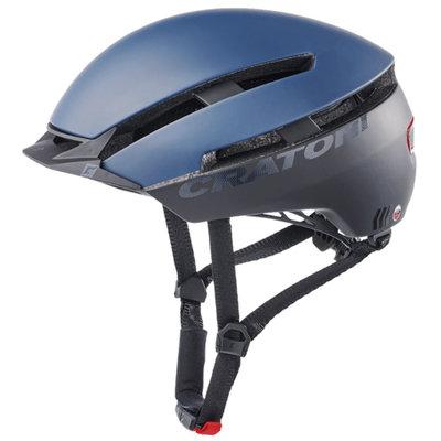 Cratoni C-Loom blauw-zwart mat e bike helm - Fietshelm met achterlicht