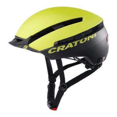 Cratoni C-Loom lime-zwart mat e bike helm - Fietshelm met achterlicht