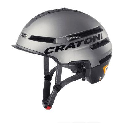 Cratoni Smartride antraciet mat - Pedelec helm - Fietshelm met Speakers - Licht en App