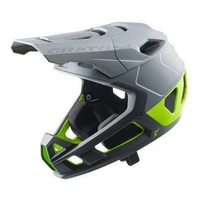 cratoni Interceptor 2.0 grijs-lime mat - mtb helm full face - Super Licht & Veilig - keuze uit 3 varianten!