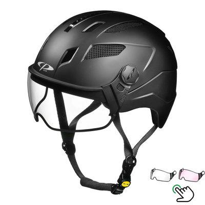 CP Chimayo+ Zwart - Trendy Pedelec helm / E-bike helm - Kies je Vizier - Helder of Meekleurend