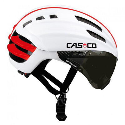 Fietshelm Casco Speedairo - wit - Carbonic Vizier (☀)