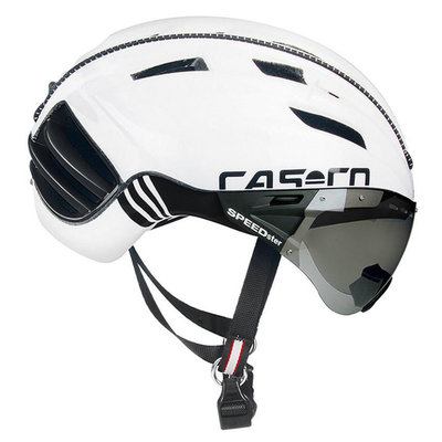 Fietshelm Casco Speedster TC PLus - wit - Carbonic Vizier (☀)