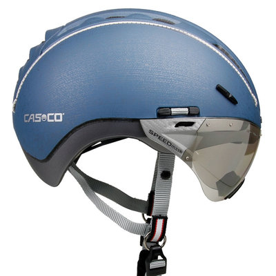 Casco Roadster e bike helm jeans blauw - Met Casco Speedmask Vizier