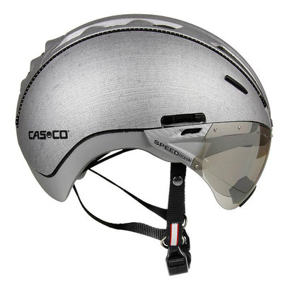 Casco Roadster e bike helm zilver - Met Casco Speedmask Carbonic Vizier (☁)
