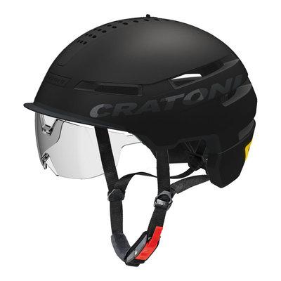 Cratoni Smartride Zwart - Pedelec helm - Fietshelm met Vizier, Licht en App