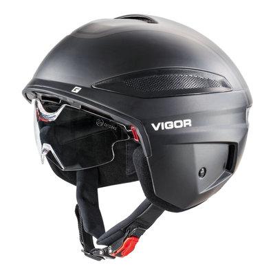 Cratoni Vigor Zwart Mat - Pedelec Helm - Fietshelm met Vizier & Reflector