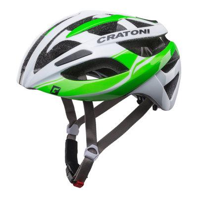 racefiets helm - Cratoni C-Breeze Wit-Groen - zeer goed geteste wielrenhelm!