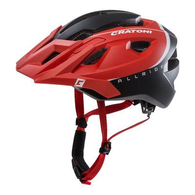 Mtb helm - Cratoni Allride Rood Zwart - Mountainbike helm met verlichting
