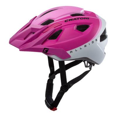 Mtb helm - Cratoni Allride Roze Wit - Mountainbike helm met verlichting