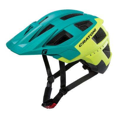 mtb helm - Cratoni Allset groen-geel - goed in mtb helm test - mtb helm met gopro port