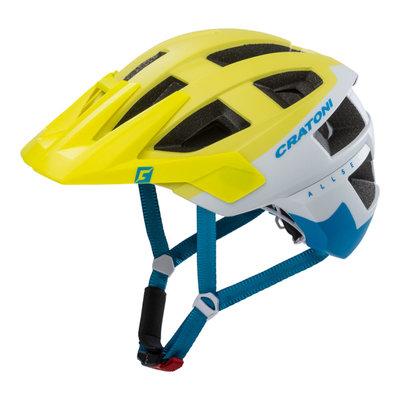 mtb helm - Cratoni Allset wit-geel - goed in mtb helm test - mtb helm met gopro port