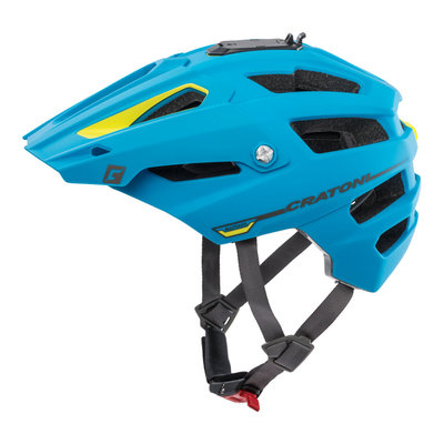 mtb helm - Cratoni Alltrack Blauw - fietshelm mtb met camera adaptor