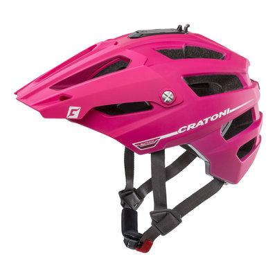 mtb helm - Cratoni Alltrack - Roze-Berry - fietshelm mtb met camera adaptor