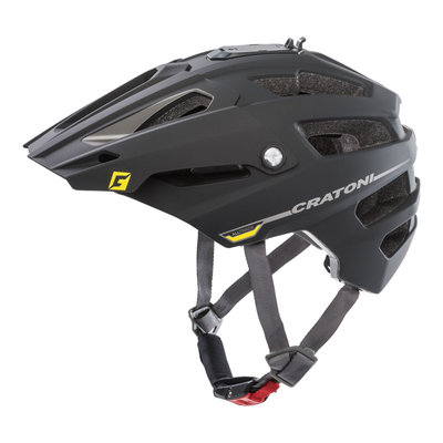 mtb helm - Cratoni Alltrack - Black-Anthracite - fietshelm mtb met camera adaptor