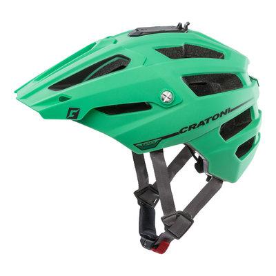 mtb helm - Cratoni Alltrack Groen-Zwart - fietshelm mtb met camera adaptor